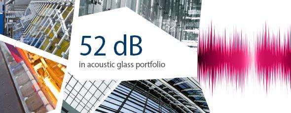 52 dB in acoustic glass portfolio