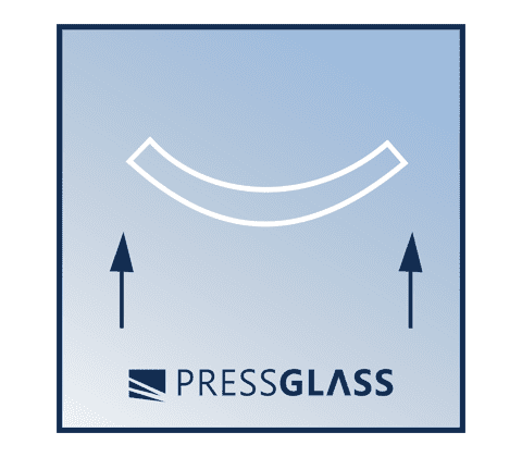 it has greater resistance to bending in comparison to ordinary glass